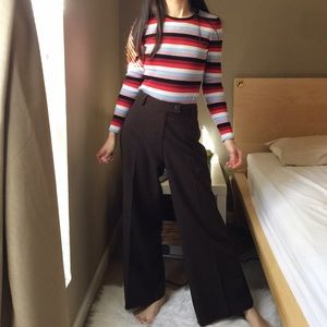 Cabi Wide Leg Casual Pants in Brown.-I9.